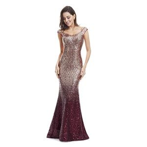 Sequined Ombré Gown